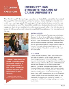 Instruct Has Students Talking at Cairn University