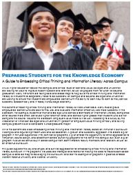 White Paper: Preparing Students for the Knowledge Economy