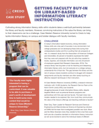 Getting Faculty Buy-In on Library-Based Information Literacy Instruction