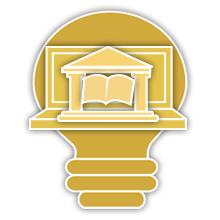 Academic bulb image logo
